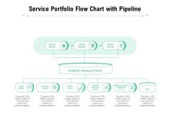 Service Portfolio Flow Chart With Pipeline Ppt PowerPoint Presentation Inspiration Mockup PDF