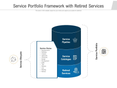 Service Portfolio Framework With Retired Services Ppt PowerPoint Presentation File Example File PDF