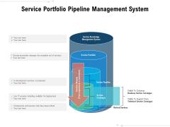 Service Portfolio Pipeline Management System Ppt PowerPoint Presentation Outline Portfolio PDF