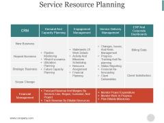 Service Resource Planning Ppt PowerPoint Presentation Styles
