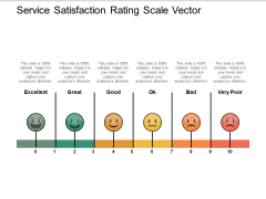 Service Satisfaction Rating Scale Vector Ppt PowerPoint Presentation Professional Background Image