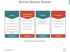 Service Success Factors Ppt PowerPoint Presentation Topics