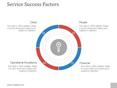 Service Success Factors Template 1 Ppt PowerPoint Presentation Inspiration