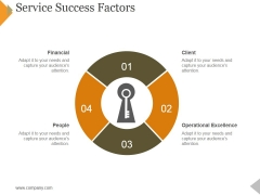 Service Success Factors Template 1 Ppt PowerPoint Presentation Layouts Graphics Example