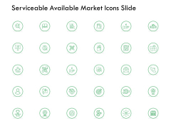 Serviceable Available Market Icons Slide Growth Ppt PowerPoint Presentation Styles Outline