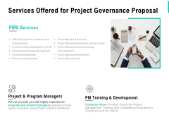 Services Offered For Project Governance Proposal Ppt PowerPoint Presentation Inspiration Styles