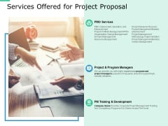 Services Offered For Project Proposal Ppt PowerPoint Presentation Icon Inspiration