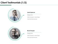 Services Proposal By Financial Representative Client Testimonials Communication Elements PDF