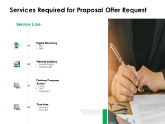 Services Required For Proposal Offer Request Ppt Powerpoint Presentation Show Slideshow