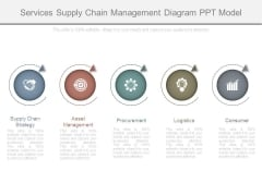 Services Supply Chain Management Diagram Ppt Model