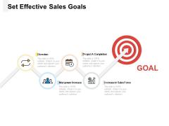 Set Effective Sales Goals Ppt PowerPoint Presentation Inspiration Vector