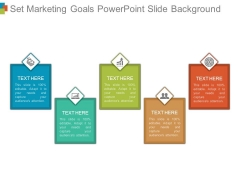 Set Marketing Goals Powerpoint Slide Background