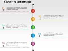 Set Of Five Vertical Steps Powerpoint Templates