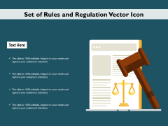 Set Of Rules And Regulation Vector Icon Ppt PowerPoint Presentation Show Example PDF