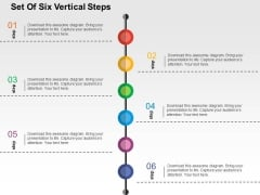 Set Of Six Vertical Steps Powerpoint Templates