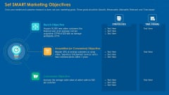Set SMART Marketing Objectives Ppt PowerPoint Presentation Infographics Outline PDF