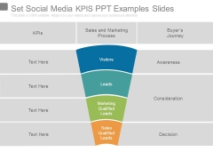 Set Social Media Kpis Ppt Examples Slides