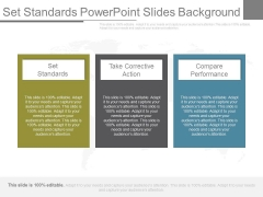 Set Standards Powerpoint Slides Background