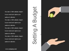 Setting A Budget Ppt PowerPoint Presentation Ideas Topics