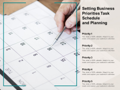 Setting Business Priorities Task Schedule And Planning Ppt PowerPoint Presentation Professional Slides