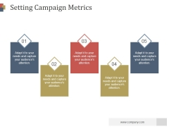 Setting Campaign Metrics Ppt PowerPoint Presentation Designs