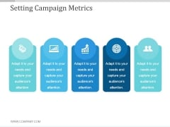 Setting Campaign Metrics Ppt PowerPoint Presentation Templates