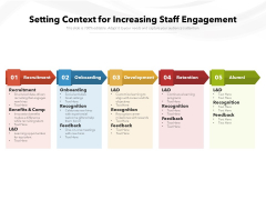 Setting Context For Increasing Staff Engagement Ppt PowerPoint Presentation File Show PDF