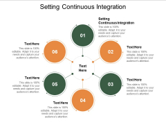 Setting Continuous Integration Ppt PowerPoint Presentation Professional Maker Cpb