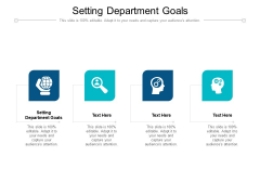 Setting Department Goals Ppt PowerPoint Presentation Background Image Cpb Pdf