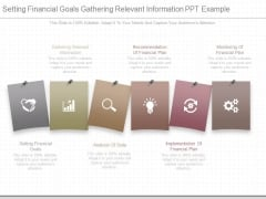 Setting Financial Goals Gathering Relevant Information Ppt Example