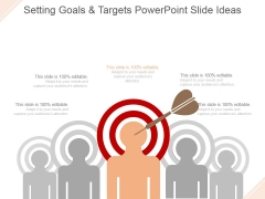 Setting Goals And Targets Ppt PowerPoint Presentation Introduction