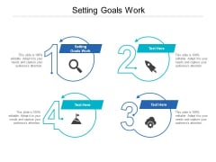 Setting Goals Work Ppt PowerPoint Presentation Icon Graphics Tutorials Cpb