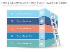 Setting Objectives And Action Plans Powerpoint Slides