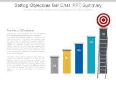 Setting Objectives Bar Chat Ppt Summary
