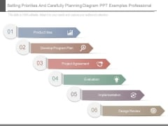 Setting Priorities And Carefully Planning Diagram Ppt Examples Professional