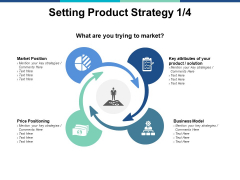 Setting Product Strategy Planning Ppt PowerPoint Presentation Icon Slide Download