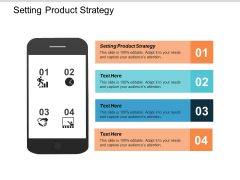 Setting Product Strategy Ppt PowerPoint Presentation Gallery Background Designs Cpb