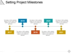Setting Project Milestones Ppt PowerPoint Presentation Infographics Icon