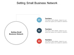 Setting Small Business Network Ppt PowerPoint Presentation Summary Smartart