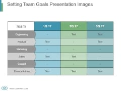 Setting Team Goals Presentation Images