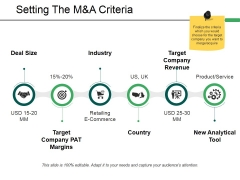 Setting The M And A Criteria Ppt PowerPoint Presentation Ideas Styles