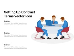 Setting Up Contract Terms Vector Icon Ppt PowerPoint Presentation File Microsoft PDF
