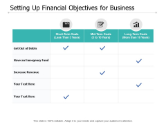 Setting Up Financial Objectives For Business Ppt PowerPoint Presentation Summary Graphic Tips