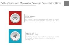 Setting Vision And Mission For Business Presentation Slides
