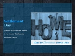 Settlement Day Ppt PowerPoint Presentation Gallery
