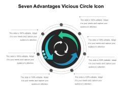 Seven Advantages Vicious Circle Icon Ppt PowerPoint Presentation Infographic Template Outline PDF