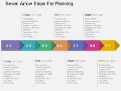 Seven Arrow Steps For Planning Powerpoint Templates