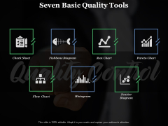 Seven Basic Quality Tools Ppt PowerPoint Presentation Show Grid