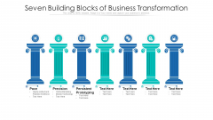 Seven Building Blocks Of Business Transformation Ppt PowerPoint Presentation Gallery Designs Download PDF