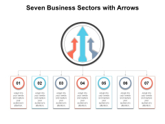 Seven Business Sectors With Arrows Ppt PowerPoint Presentation File Outline PDF
